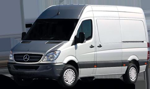 Sprinter 2500 Van with Stainless Steel Wheel Simulators