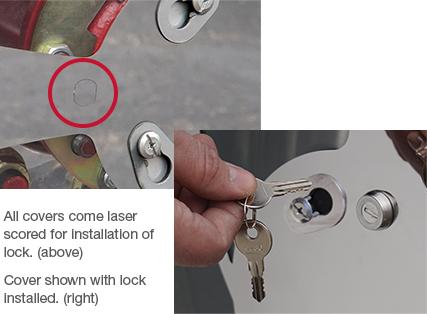 Twist & Lock Aero Covers Anti-Theft Locks