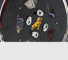 Custom Laser Cut Logos for Aero Covers