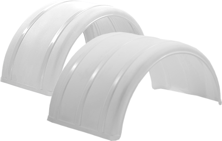 "19"" & 25"" White Poly Single Arch Fenders"